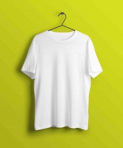 Classic White Half Sleeve T Shirt