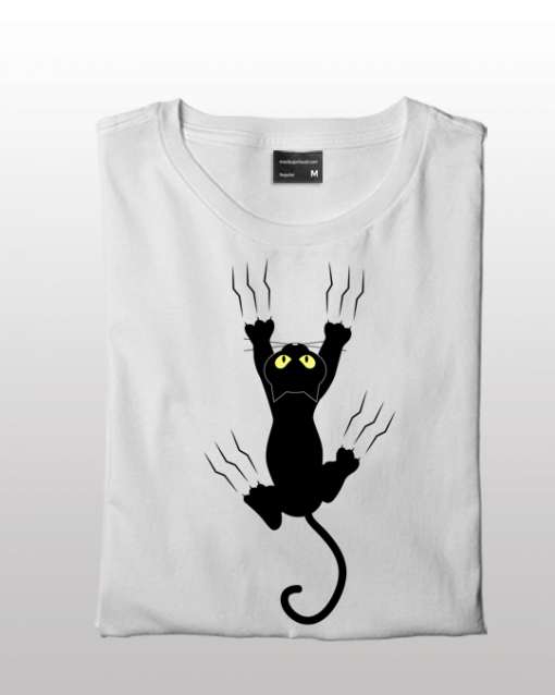 Freaky black Cat Women T-shirt