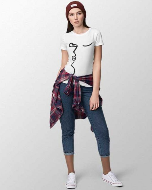The Snapped Face Women T-shirt