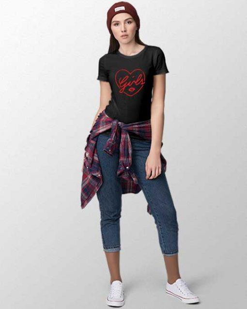 Heart Girls Women T-shirt