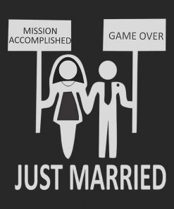 Game Over Married Life Men T-shirt
