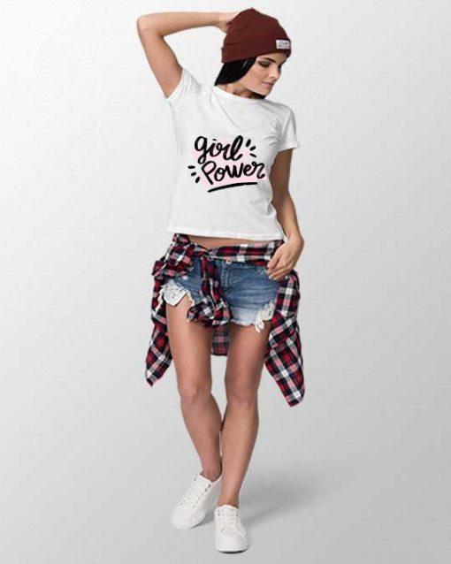 girl power women t-shirt