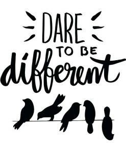 dare to be different women t-shirt