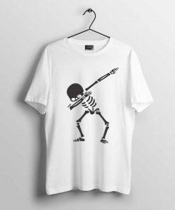 white skeleton t-shirt