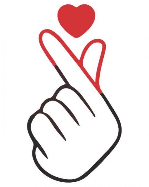 Heart On Finger Women's T-shirt